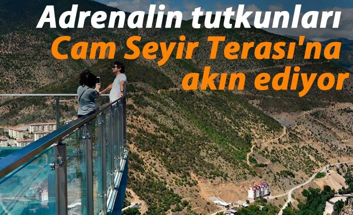 Adrenalin tutkunları Cam Seyir Terası'na akın ediyor