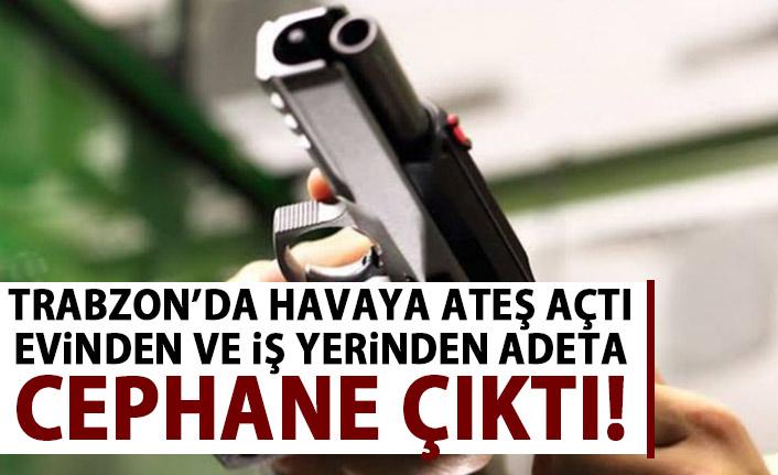 Trabzon'da havaya ateş açan şahısın Evinde ve İş yerİnde silahlar yakalandı!