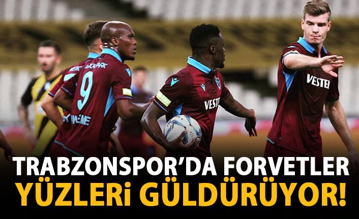 Trabzonspor'da golcüler yüz güldürüyor!