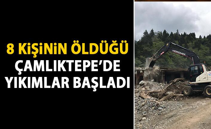 8 kişinin hayatını kaybettiği Çamlıktepe'de yıkımlar başladı