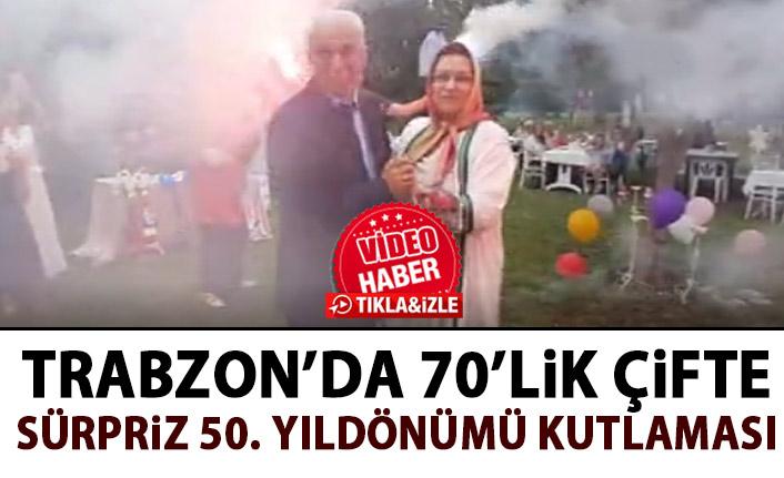 Trabzon'da sürpriz evlilik yıldönümü kutlaması