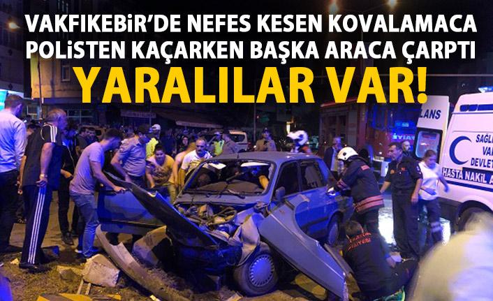 Trabzon'da polisten kaçarken kaza yaptılar! Yaralılar var!