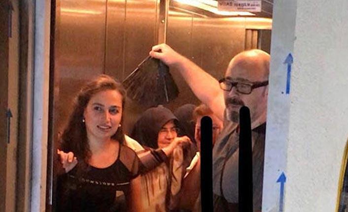 Asansörde mahsur kaldılar itfaiye kurtardı