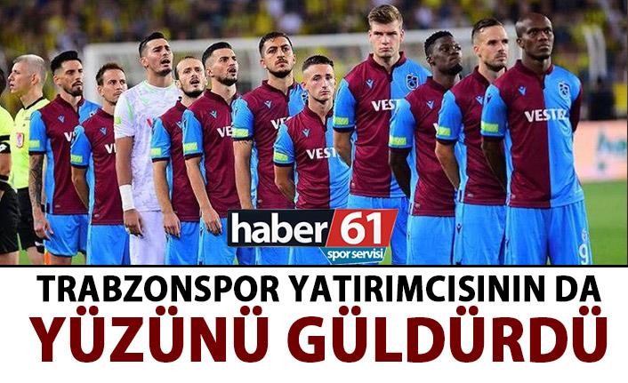 Trabzonspor yatırımcısnın da yüzünü güldürdü