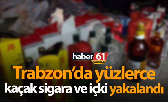Trabzon'da kaçakçılara darbe
