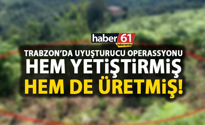 Trabzon'da uyuşturucu operasyonu!