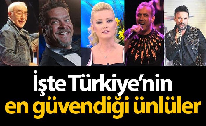 Türkiye'nin en güvendiği ünlüler