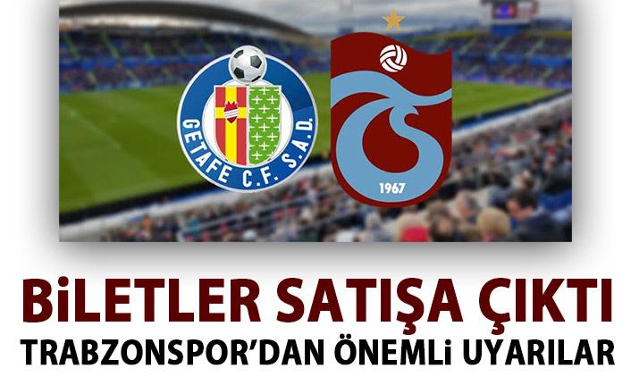 Trabzonspor'dan Getafe maçı biletleri satışa çıktı