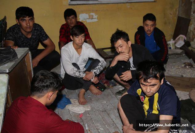 Erzurum'da 42 kaçak göçmen yakalandı!