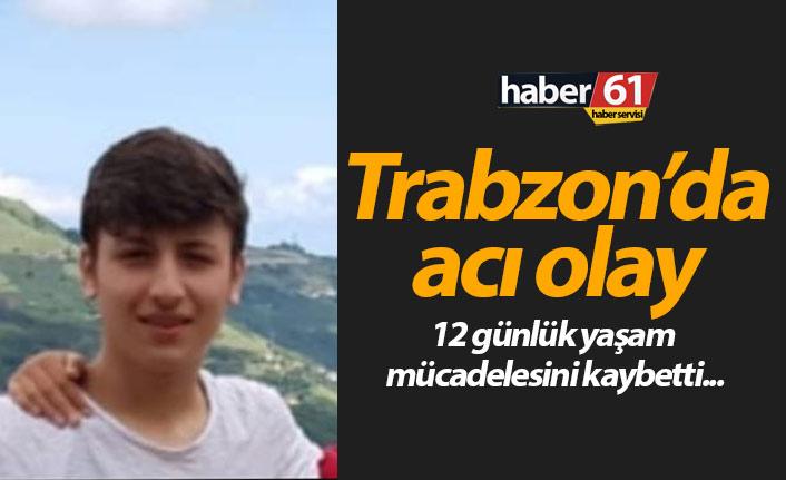 Trabzon'da boğulma tehlikesi geçiren genç yaşam mücadelesini kaybetti