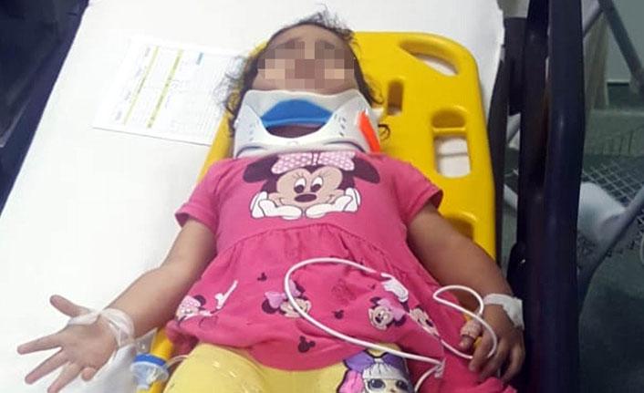 Evin 1. katından düşen çocuk ağır yaralandı