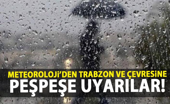 Meteoroloji'den Trabzon ve çevresine kritik uyarılar