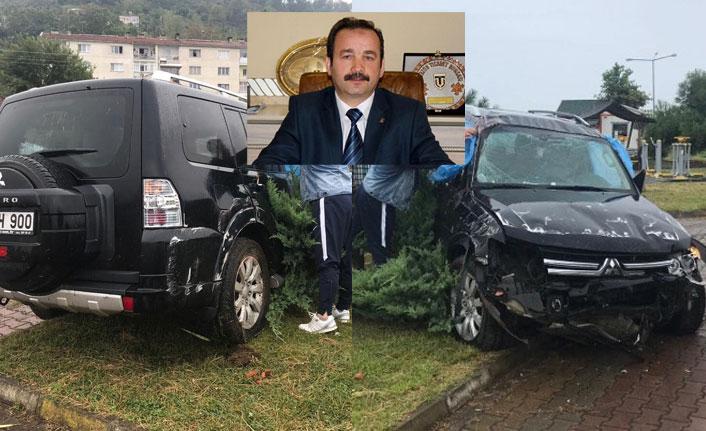 Trabzonlu iş adamı kaza geçirdi