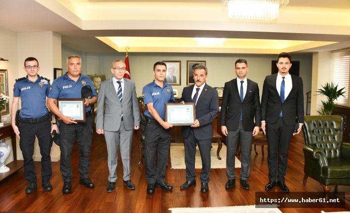 Polislere başarı belgesi