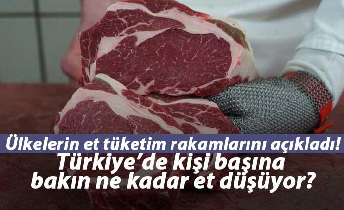 Türkiye'de kişi başına bakın ne kadar et tüketiliyor?