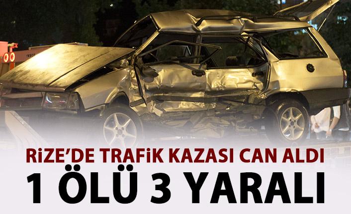Rize'de trafik kazası can aldı