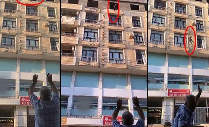 Genç kız 6. kattan atladı...