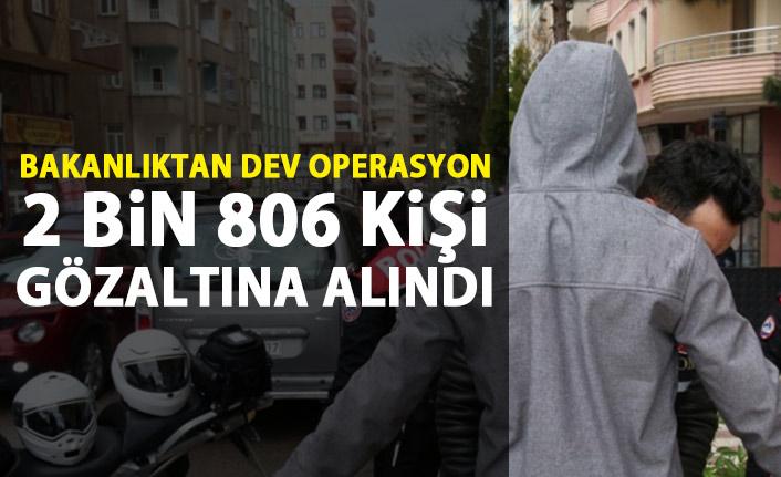 İçişleri Bakanlığı'ndan dev operasyon!