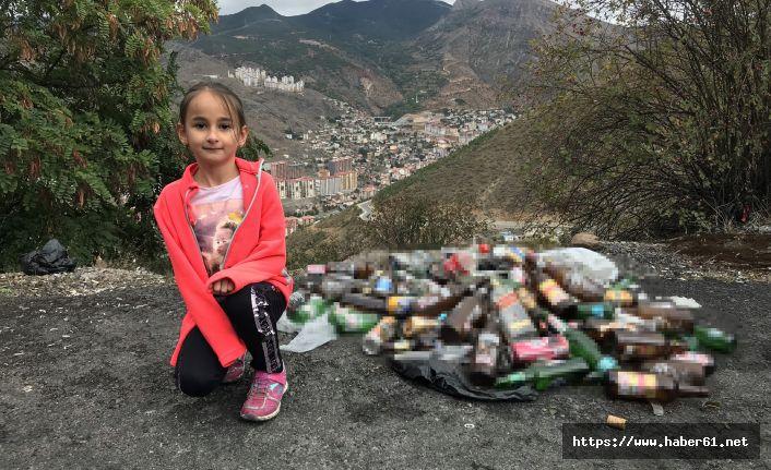 Gümüşhane'de 8 yaşındaki Zeynep'ten çöp isyanı
