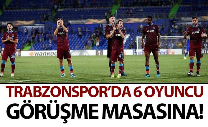 Trabzonspor'da 6 oyuncu ile kritik görüşme!