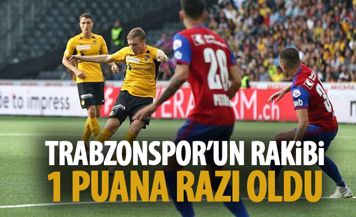 Trabzonspor'un rakibi bir puana razı oldu