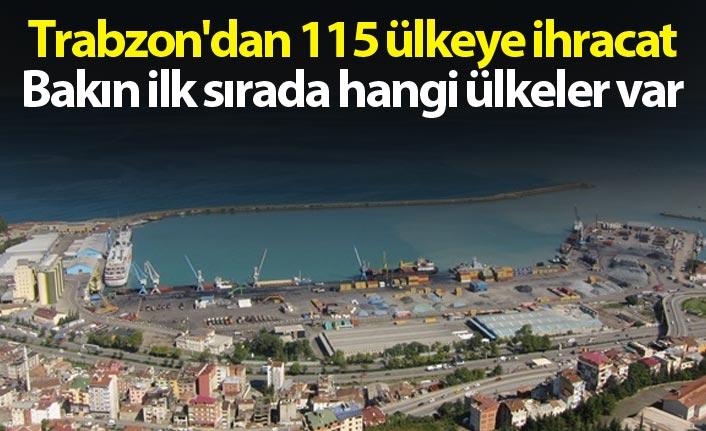 Trabzon'dan 115 ülkeye ihracat