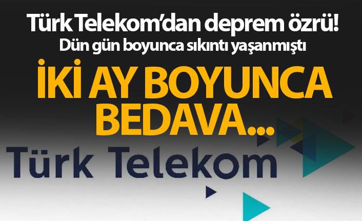 Türk Telekom'dan özür geldi! Kullanıcılarına hediye...