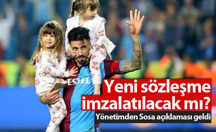 Trabzonspor yönetiminden Sosa açıklaması!
