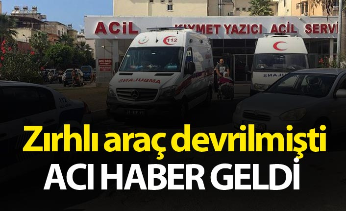 Hatay'da zırhlı araç devrildi: 2 şehit, 5 yaralı