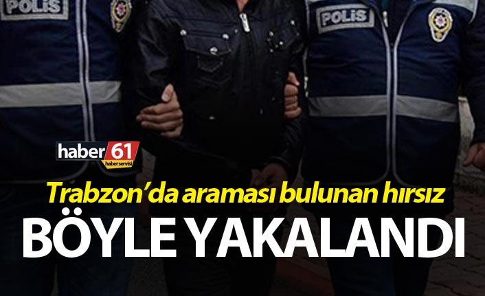 Trabzon'da aranan hırsız kontrolde yakalandı