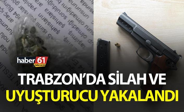 Trabzon'da silah ve uyuşturucu yakalandı