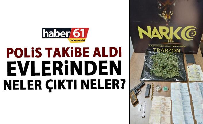 Trabzon'da uyuşturucu baskını! Evden neler çıktı neler!