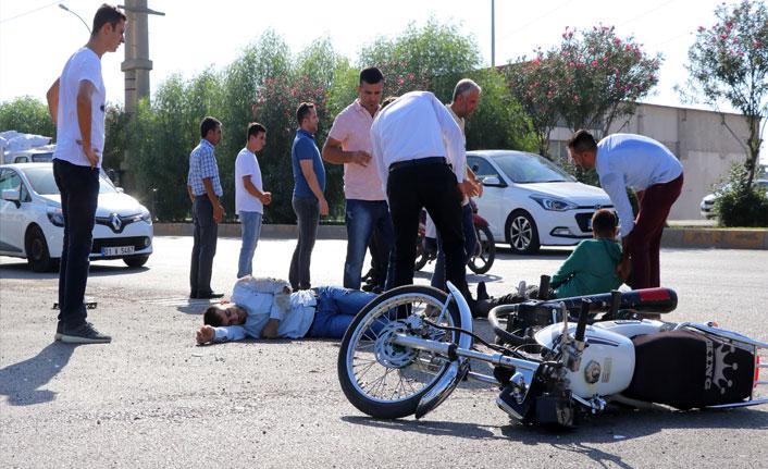 Adana'da motosiklet kazası