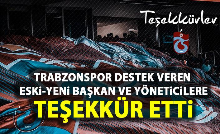 Trabzonspor'da eski başkan ve yöneticilere teşekkür