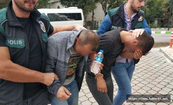 Kardeşler uyuşturucudan yakalandı