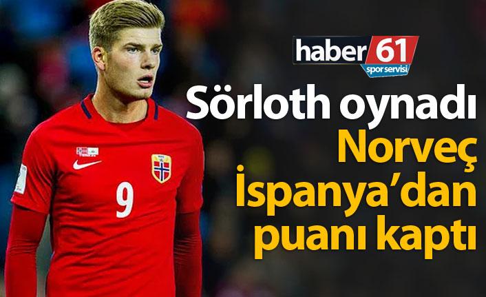 Sörloth'lu Norveç İspanya'dan puanı kaptı