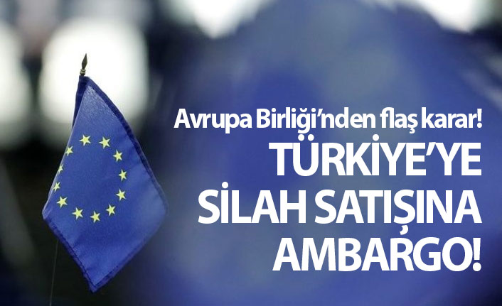 Avrupa Birliği'nden Türkiye'ye silah satışına yasak!