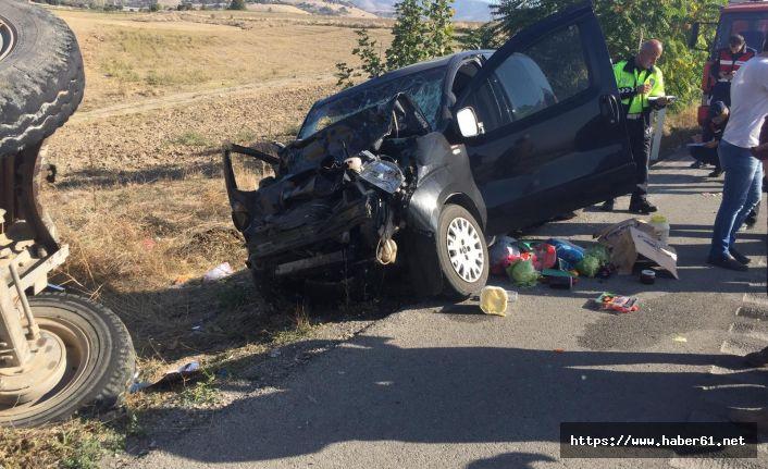 Amasya'da trafik kazası