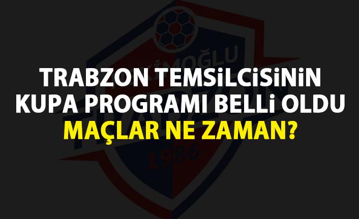Hekimoğlu Trabzon'un kupa programı belli oldu