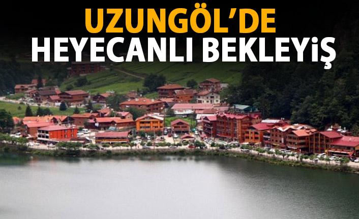 Trabzon Uzungöl'de heyecanlı bekleyiş