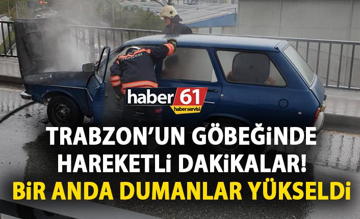 Trabzon'un göbeğinde korkutan anlar! Bir anda dumanlar yükseldi