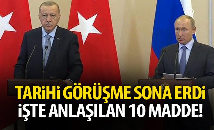 Türkiye ve Rusya 10 madde üzerinde anlaştı! İşte O 10 madde!