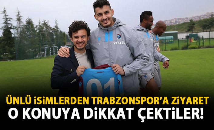 Ünlü şarkıcı Trabzonspor antrenmanında!