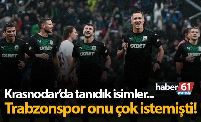 Krasnodar'da tanıdık isimler var! Trabzonspor onu çok istemişti…