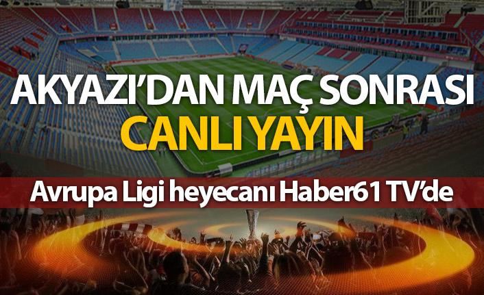 Maç sonrası Akyazı'dan canlı yayın