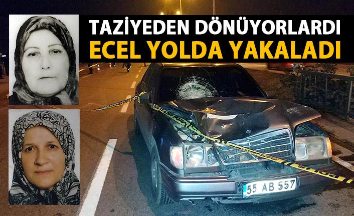 Taziyeden dönen kadınlara araba çarptı! 2 ölü
