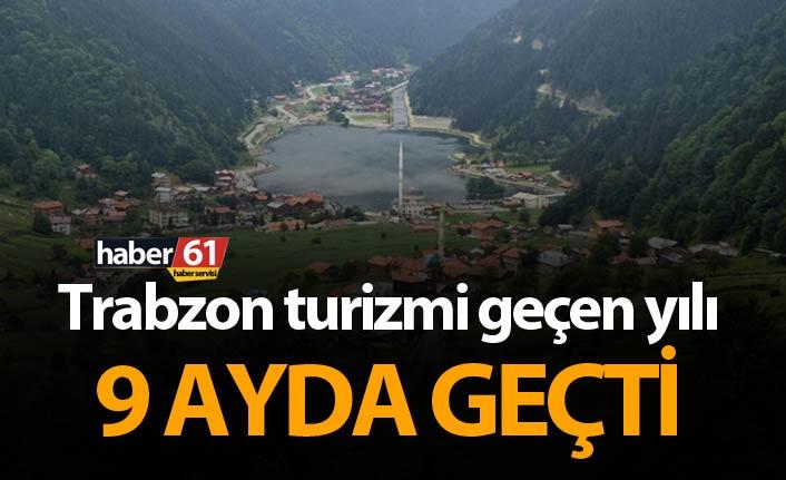 Trabzon turizmi geçen yılı 9 ayda geçti