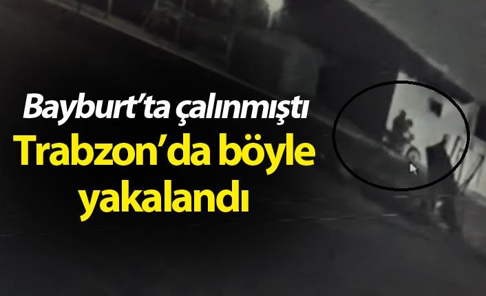 Bayburt'ta çalınmıştı Trabzon'da böyle bulundu