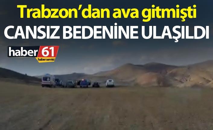 Trabzon'dan ava gitmişti – Cansız bedenine ulaşıldı