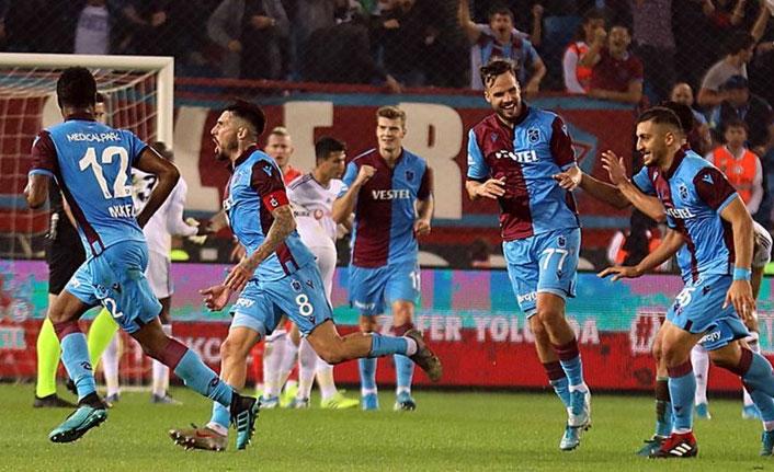 Trabzonspor'a liderlik şansı doğdu - Süper Lig Puan Durumu